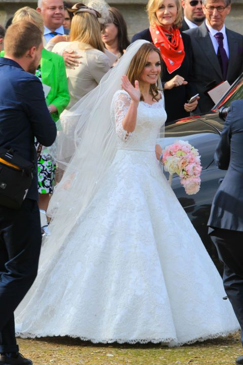 Spice Girl Geri Halliwell started the spring off with a princessy Phillipa Lepley gown for her.