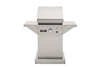 26 Patio FR - Stainless Pedestal with Si