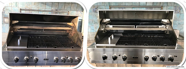 BEFORE - AFTER VIKING CLEANING - GRILL REPAIR