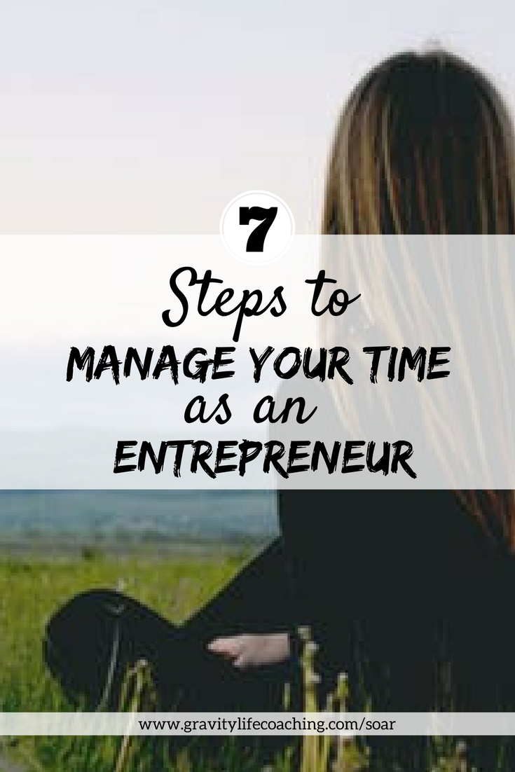 Manage your time as an entrepreneur