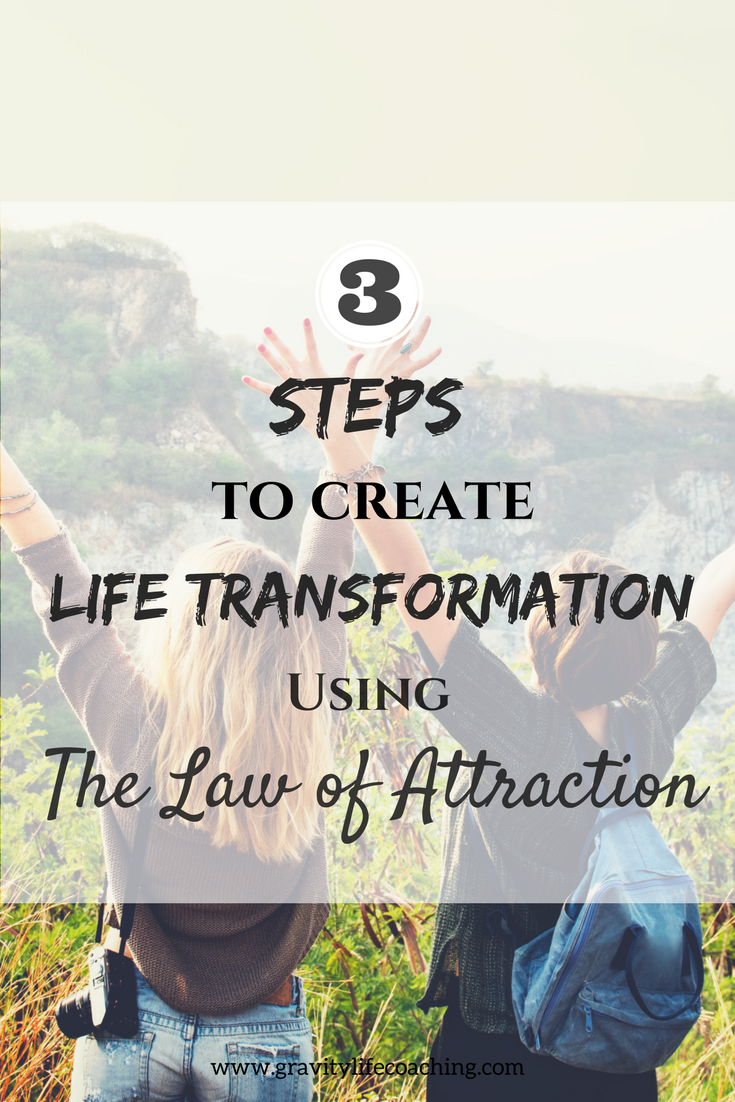 3 Steps to Create Life Transformation using the Law of Attraction