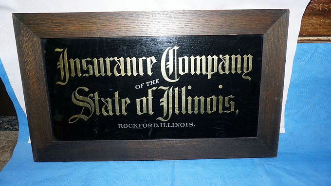 Gold Leaf Sign -insurance Company Of The State Of Illinois