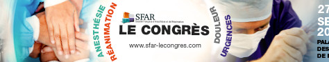Save the Date : congrès SFAR