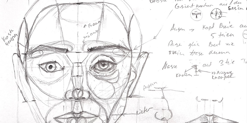 Porträt Teil 4: Kopf Proportionen, Frontal