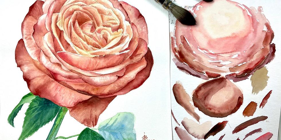 Rosen - Aquarellmalerei