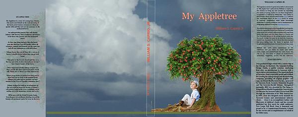 Appletree, boy sitting under tree