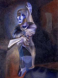 Каденция. Памяти Антонину Арто. Холст, масло. Фергана. 1990 год.