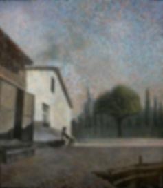 Тень несуществующего дома. Холст, масло. Ташкент 1995-2006 годы