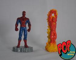 spiderman y antorcha
