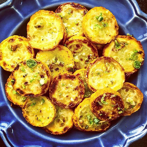 yellow zucchini with ramps