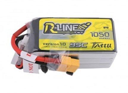 Tattu R-Line 1050mAh 95C 6S1P Lipo Battery Pack with XT60 Plug