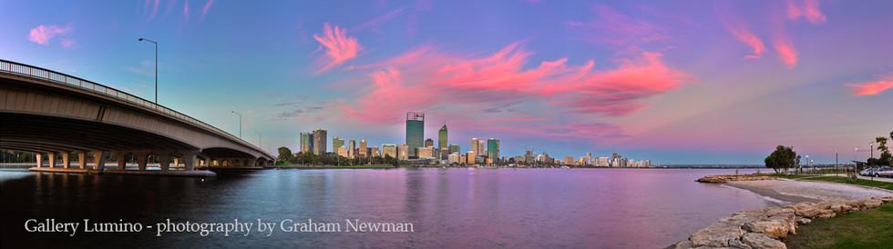 Perth City Pink Sunset (Western Australia)