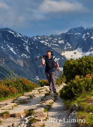 Graham Newman working in Tatra Mountains (Poland)