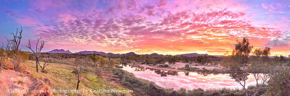 Mt. Sonder Dawn Reflection (Northern Territory)