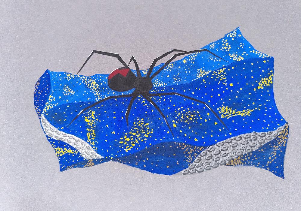 araignée qui tisse les mondes, planète indigo