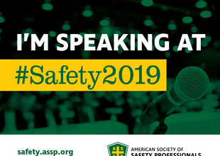 I Am Speaking at Safety 2019