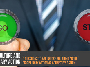 Safety Culture and Disciplinary Action