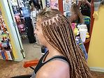 Before & After Braids Sample:  Labelle Professional Braid Salon & Beauty Supply