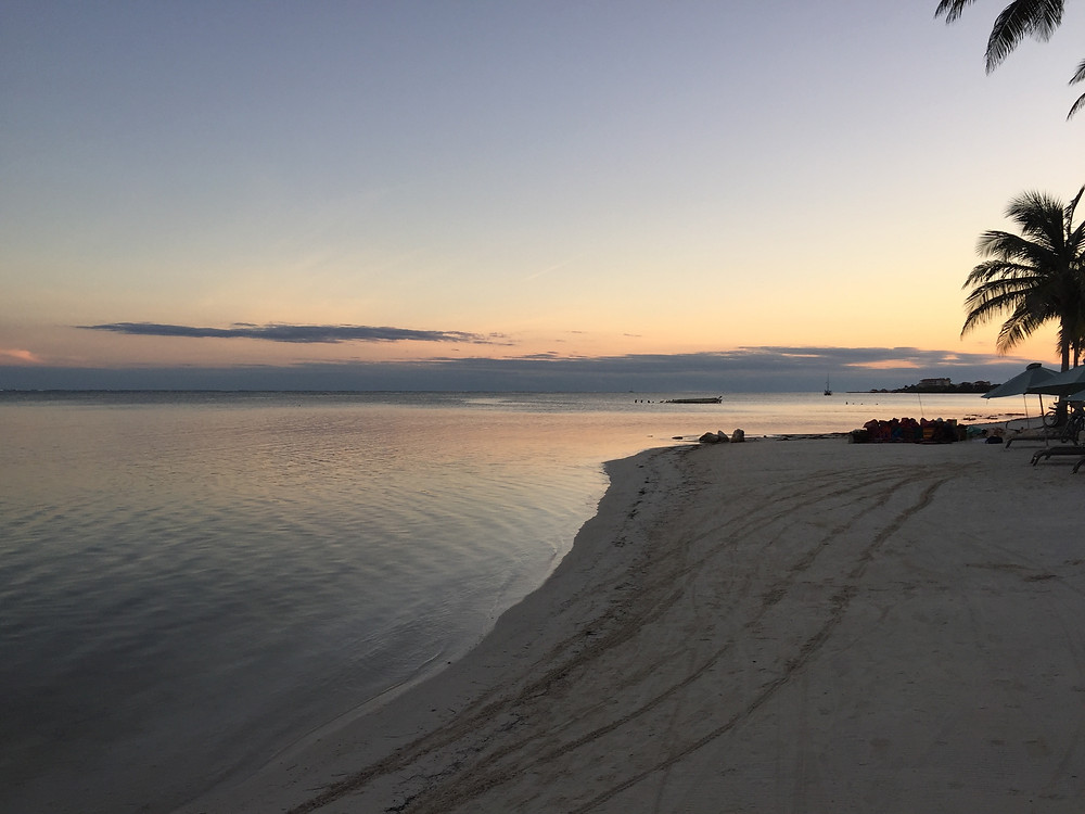 Sunset at Coco Beach Resort in Belize