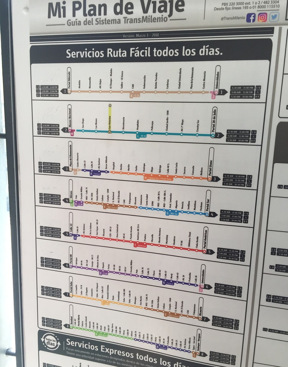 Bus system photo of Colombia bus lines