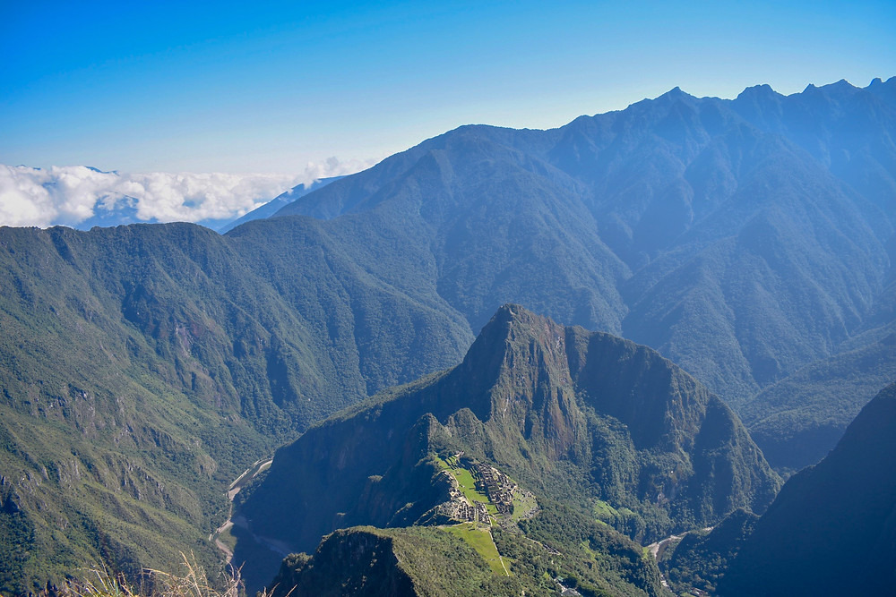 View from the top of Machu Picchu Mountain