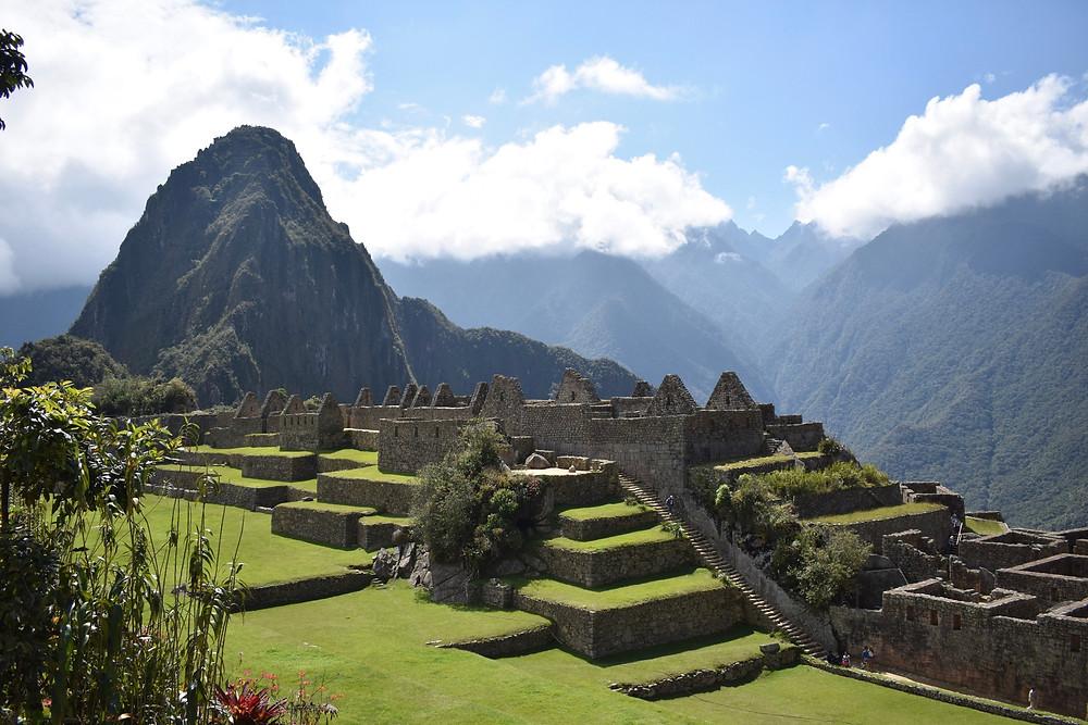View of Machu Picchu Ruins in Peru