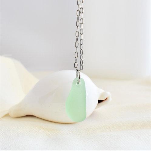 Seafoam Green Beach Glass Sea Glass Pendant Light Green Aqua Pendant