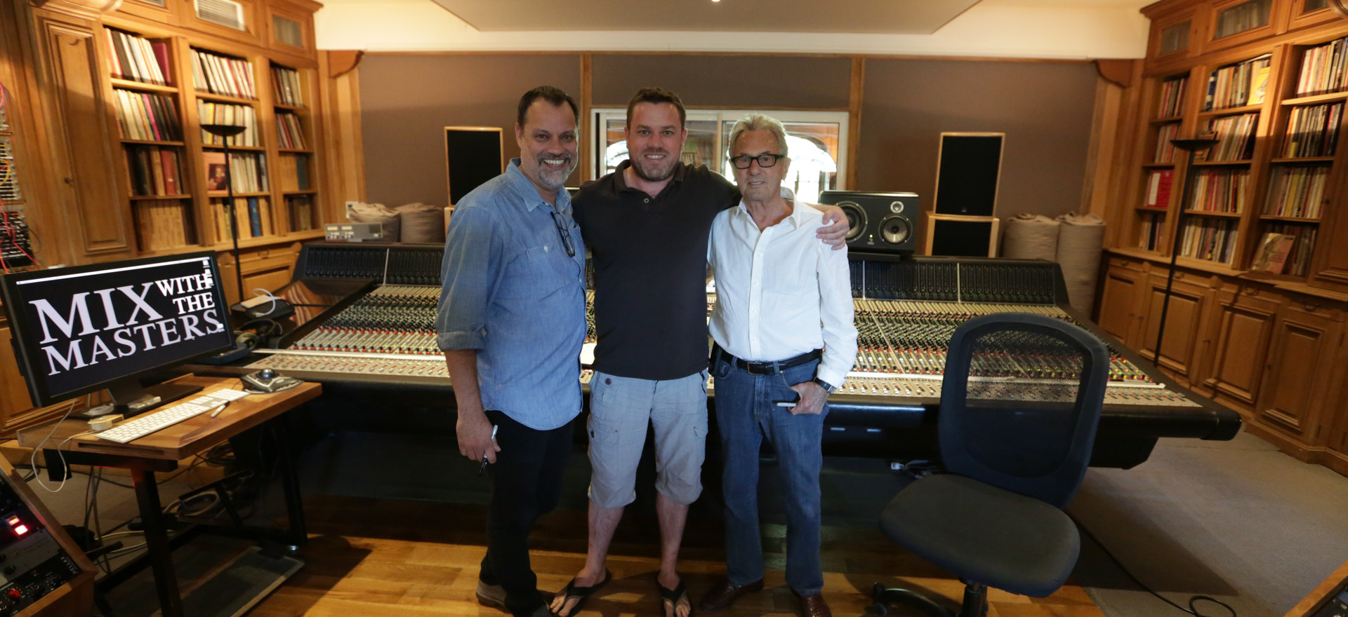 With my two recording and mixing mentors, Steve Genewick And Al Schmitt