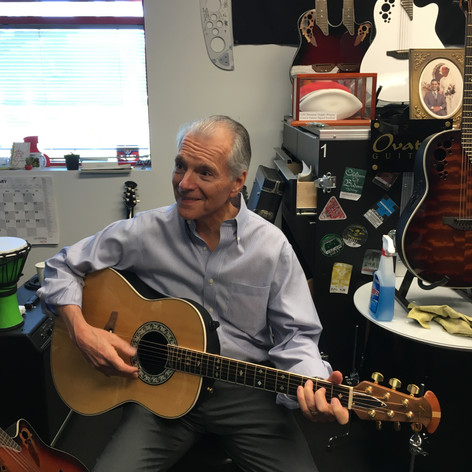 JC playing Glen Campbell's guitar.JPG