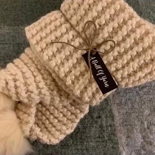 Starlight pom pom scarf