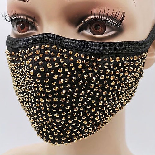Bling Mask - Gold on Black
