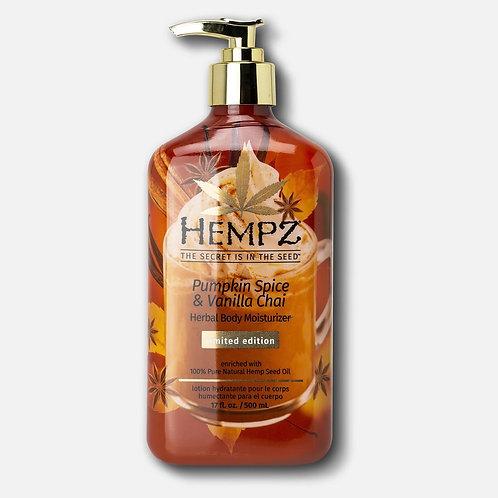 Limited-Edition Pumpkin Spice & Vanilla Chai Herbal Body Moisturizer
