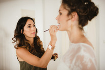Getting ready  Hair and Make up by me