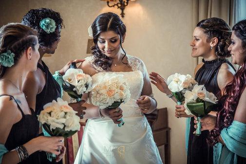 Indisches Brautstyling