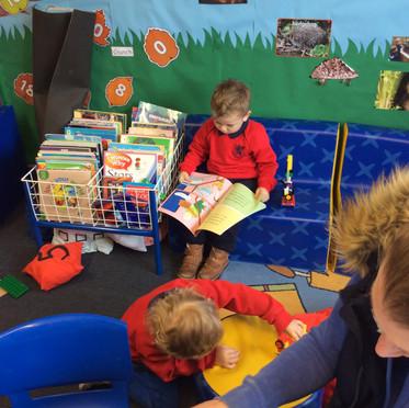 In the reading corner
