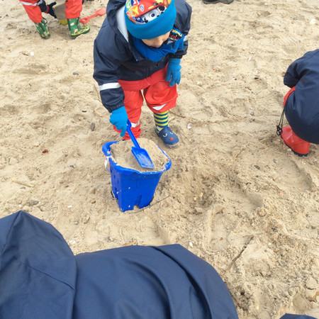 Making a sandcastle