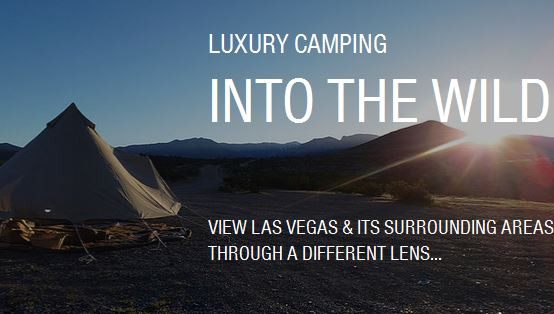 Wanderlust Pop Up Glamping Las Vegas Camping Tent Rental