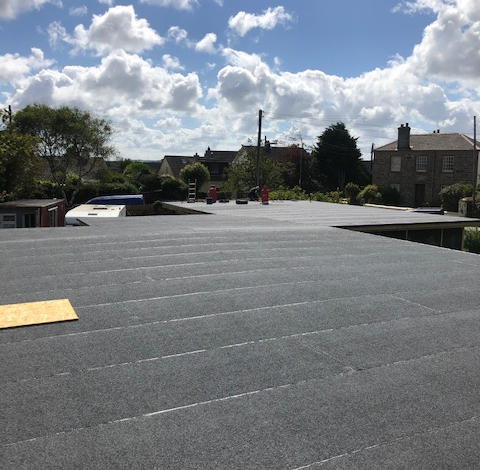 220m warm roof with 3 layer high performance felt  Ready for the green roof