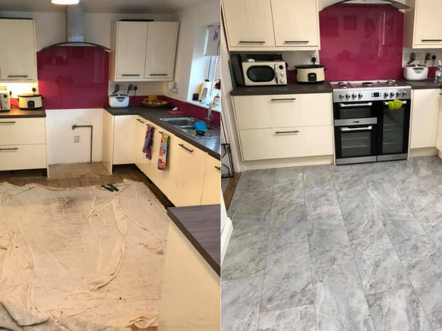 Bit of a change! New porcelain tiles to this kitchen diner