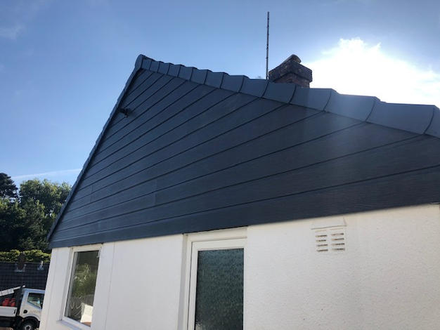 New Durasid cladding added to the gable of this bungalow