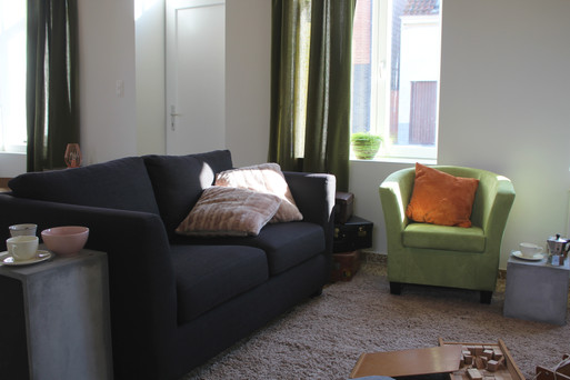 2 Seater Couch and green relaxing chair