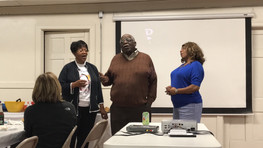 """Singing """"Lift Every Voice and Sing"""" (also known as The African-American Anthem) while being hosted for lunch at First Baptist Church of St. Louis Photo by Echoes Photography"""