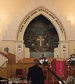 someone speaking in a church