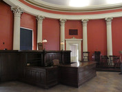 Courtroom as it would have been during the Dred Scott trial. Photo by Echoes Photography