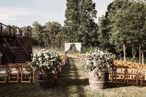 Wedding Ceremony at Ashton Creek Vineyard