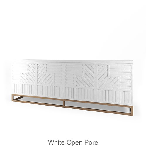 Stria White Open Pore Wood Finish