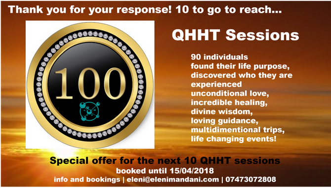 Thank you for your response! 10 to go to reach 100 QHHT Sessions!
