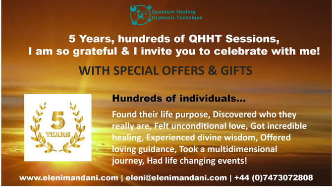 5 Years, Hundreds of QHHT Sessions!!!