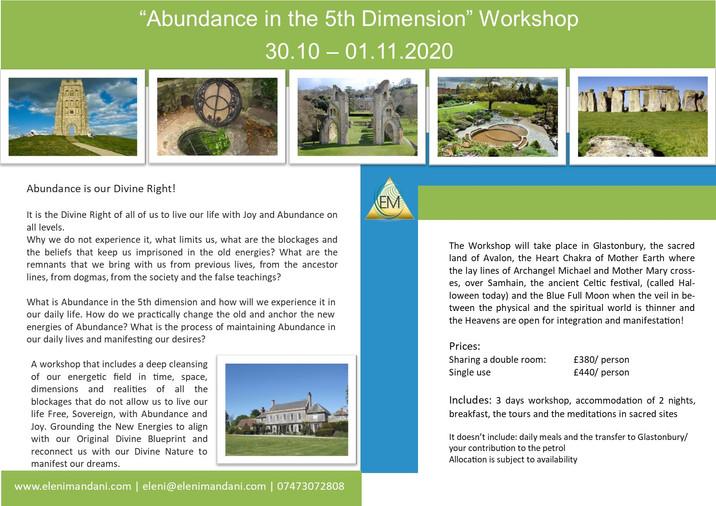 """Abundance in the 5th Dimension"" Workshop"