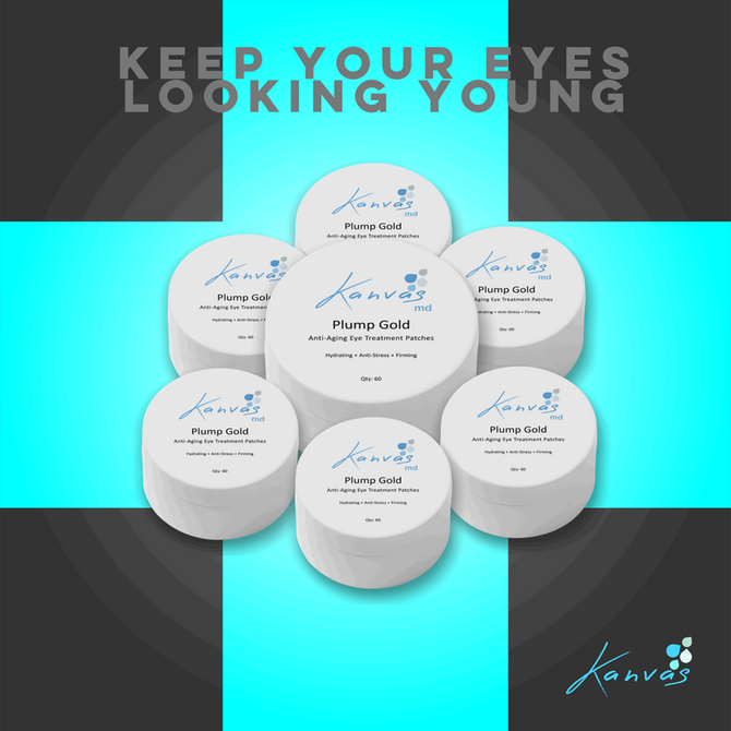 KEEP YOUR EYES LOOKING YOUNG WITH OUR PLUMP GOLD ANTI-AGING EYE TREATMENT PATCHES
